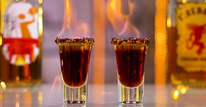 Flaming German Shots With Fireball And Jager