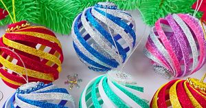 DIY Foam Swirl Ornaments