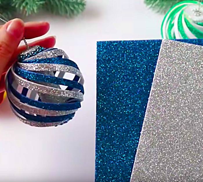 Learn to make these cheap easy DIY Foam Swirl Christmas ornaments from Michael's Craft Store