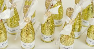 DIY New Year's Eve Glitter Champagne Bottle