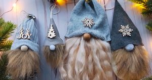 DIY Sock Gnome Christmas Ornaments