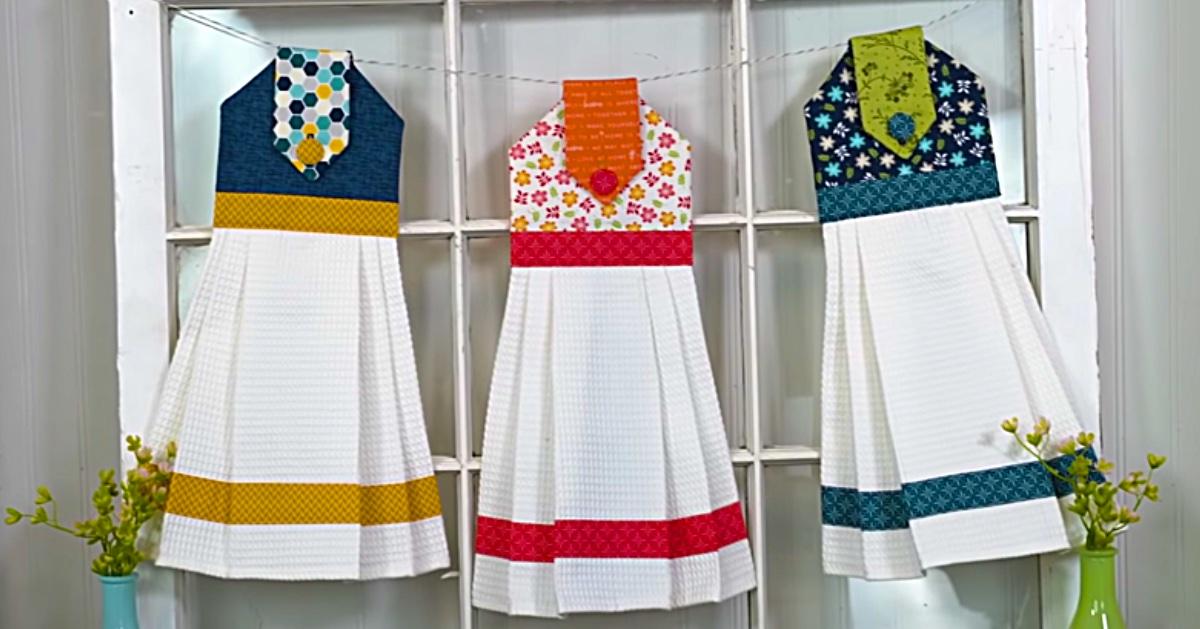 Learn To Sew A Diy Hanging Tea Towel