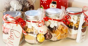 DIY Hot Cocoa In A Mason Jar Gift Idea