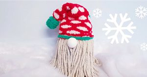 DIY Christmas Mop Sock Gnome
