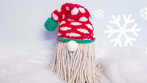 DIY Christmas Mop Sock Gnome   DIY Joy Projects and Crafts Ideas