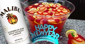 New Year's Eve Champagne Rum Punch Recipe