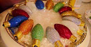 DIY Upcycled Light Bulb Ornaments