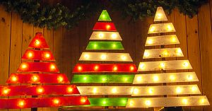 Learn To Make A DIY Pallet Tree With Marquee Lights