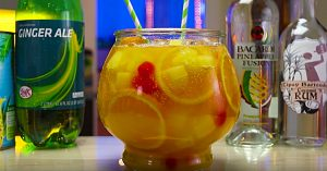 Sparkling Pineapple Rum Punch Recipe