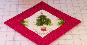 Learn To Sew A Christmas Pot Holder