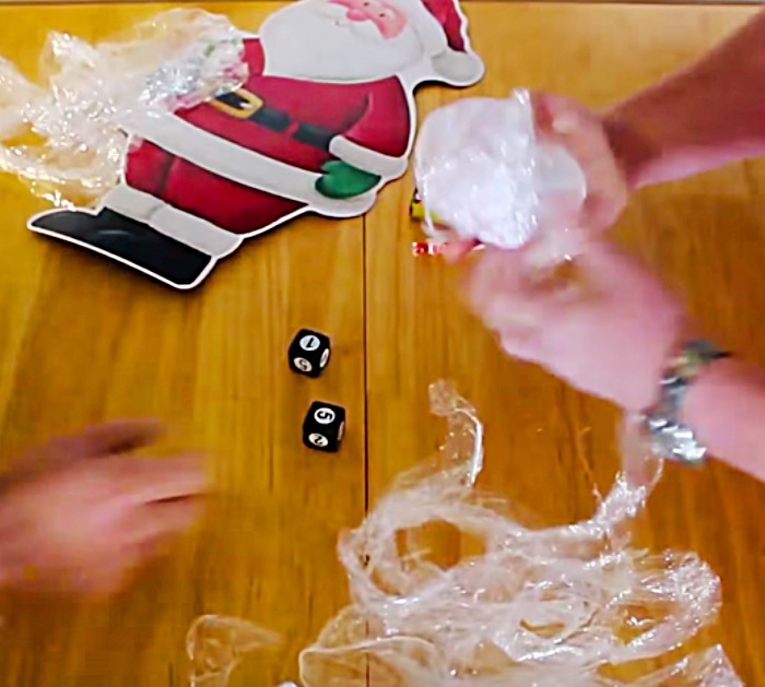 Make a fun easy cheap DIY Saran Wrap Party Game