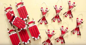 Learn To Make Sled And Ski Ornaments From Popsicle Sticks