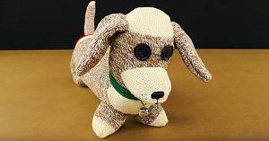 DIY Sock Dachshund Dog