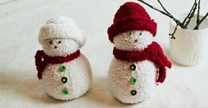 Learn To Make DIY Sock Snowman