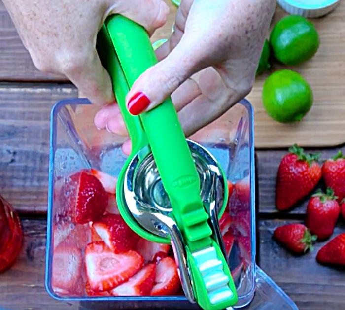 Strawberry Margarita On The Rocks Recipe