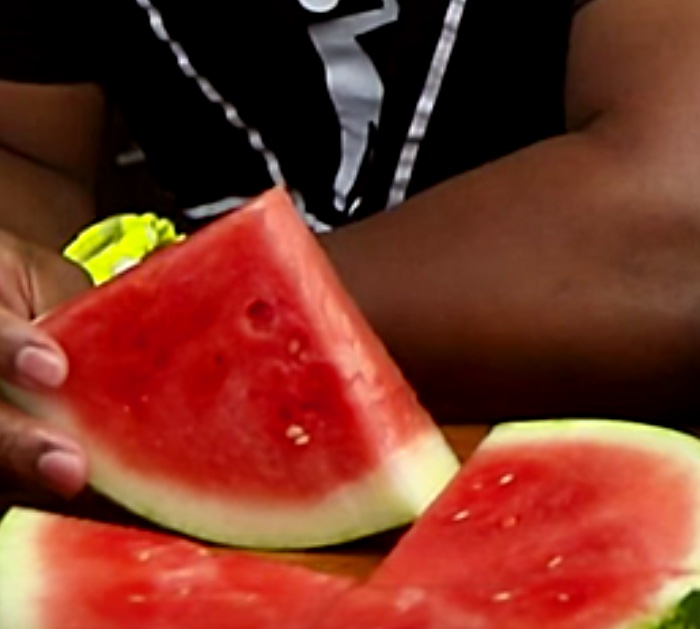 Try this Extreme Vodka Watermelon Cocktail fruit centerpiece