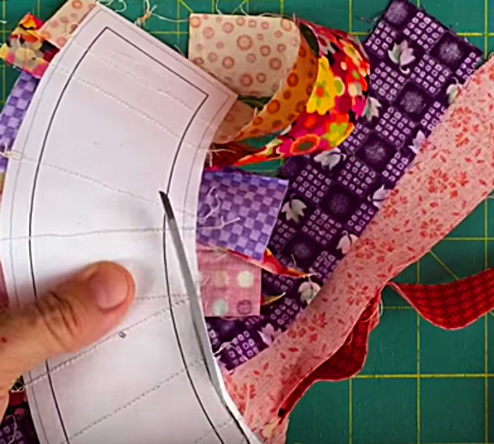 Learn to sew a classic Wedding Ring Style Quilt Block