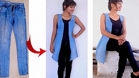 DIY Upcycled Denim Vest | DIY Joy Projects and Crafts Ideas