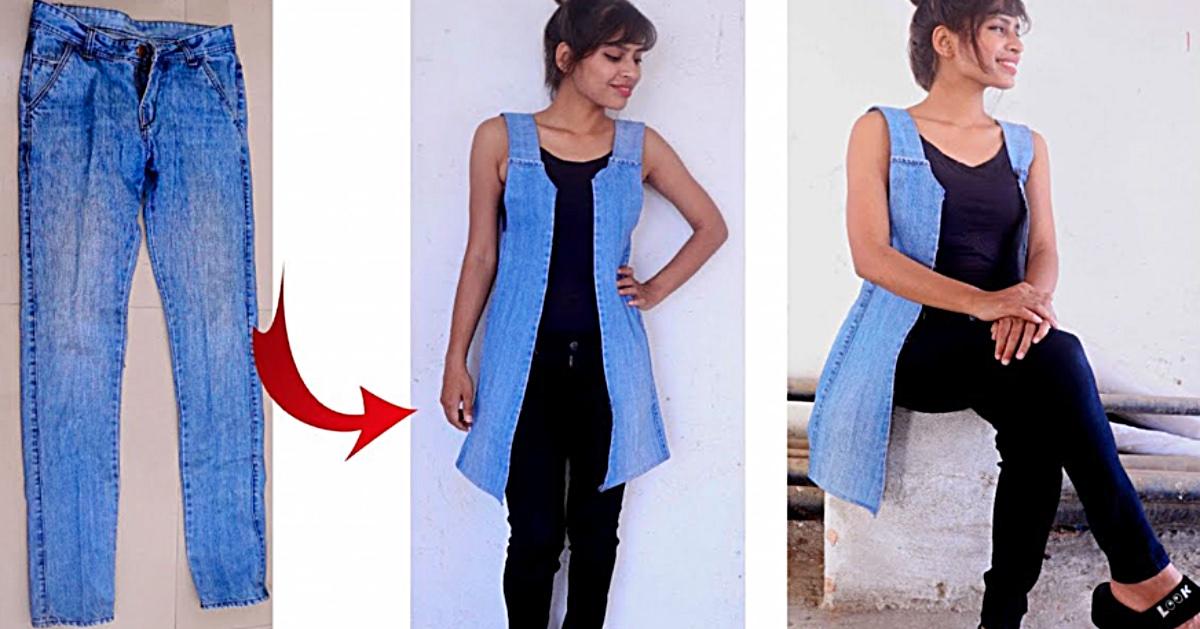 Upcycled Jean vest