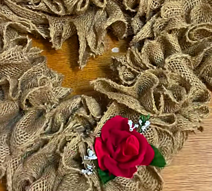 Learn to make a cute cheap quick easy Burlap Heart Wreath For Valentines Day