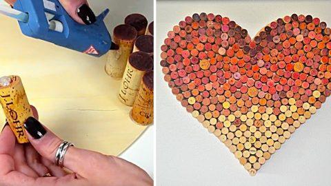 DIY Wine Cork Heart | DIY Joy Projects and Crafts Ideas