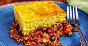 Chili Cornbread Skillet Casserole Recipe