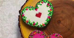 Cross Stitch Heart Cookies Recipe