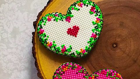 Cross Stitch Heart Cookies Recipe   DIY Joy Projects and Crafts Ideas