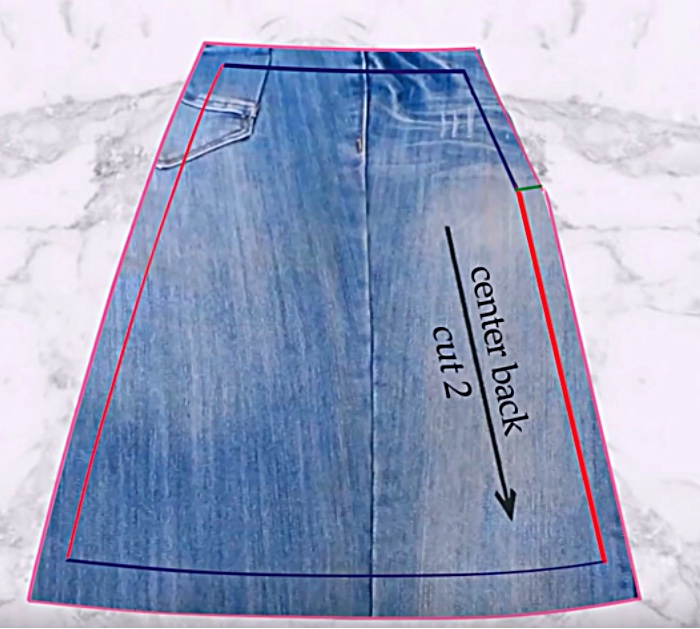 Learn to make an upcycled denim skirt from your old jeans