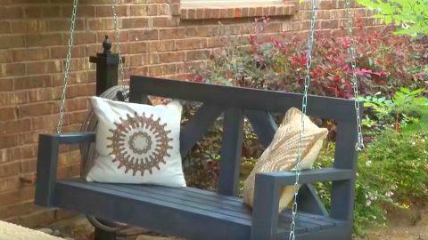 DIY $40 Farmhouse Porch Swing | DIY Joy Projects and Crafts Ideas