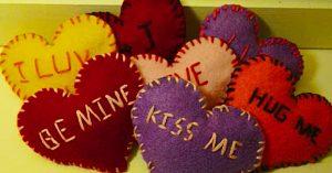 DIY Valentine Message Felt Hearts