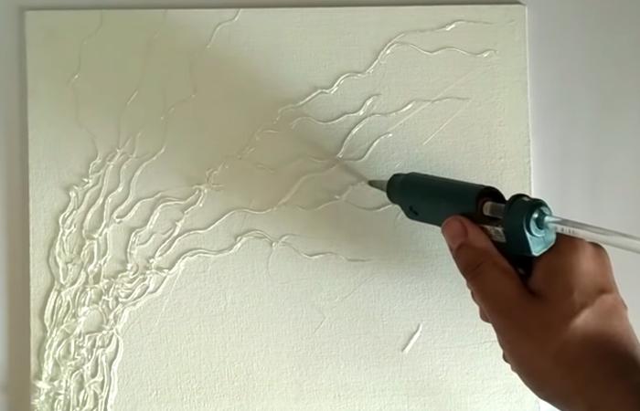 Glue Gun Art - How to Paint A Tree