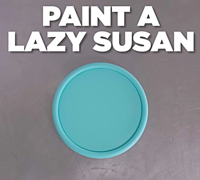 Learn to make a Lazy Susan Organizer from old gift wrap rolls