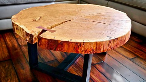 DIY Log Slice Coffee Table | DIY Joy Projects and Crafts Ideas