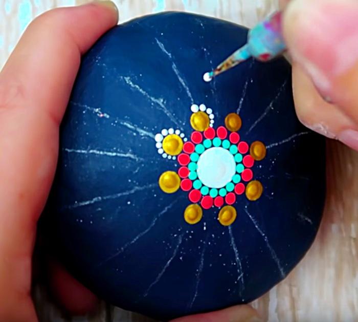 Try making a DIY dot paint a Mandala Stone