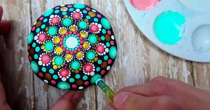 How To DIY Dot Paint A Mandala Stone