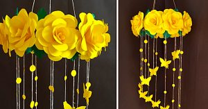 DIY Paper Rose Mobile