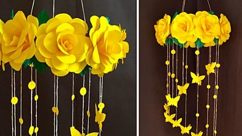 DIY Paper Rose Mobile | DIY Joy Projects and Crafts Ideas
