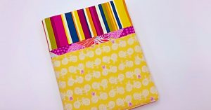 Learn To Sew A DIY Patchwork Notebook Cover