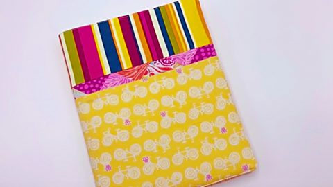 Learn To Sew A DIY Patchwork Notebook Cover | DIY Joy Projects and Crafts Ideas
