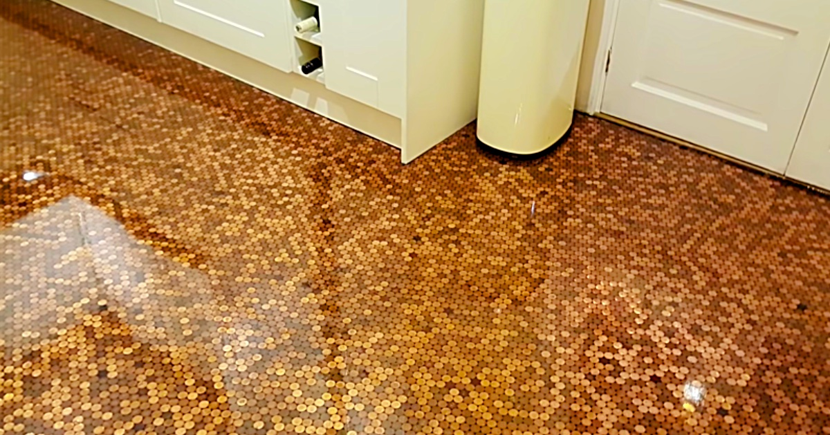 Diy Epoxy Penny Floor