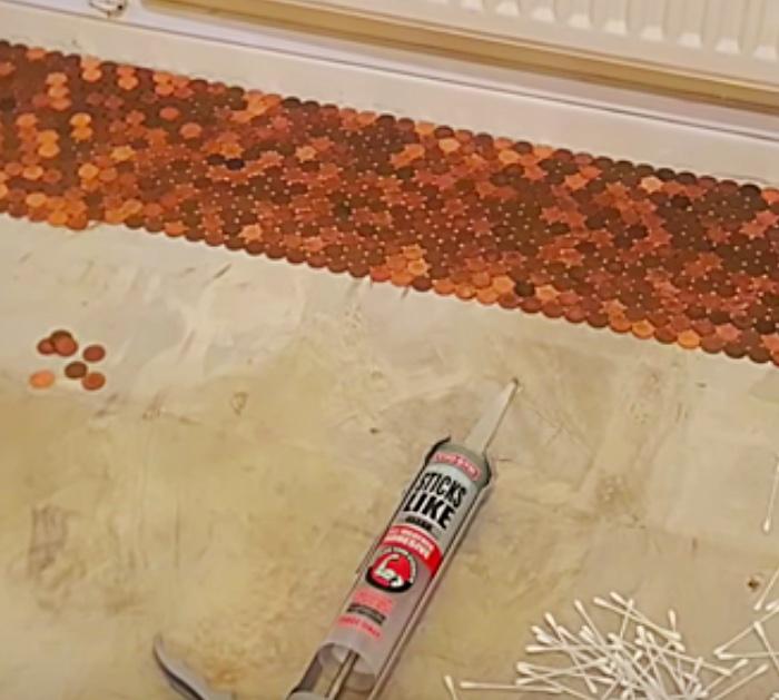 Diy Epoxy Penny Floor