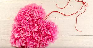 DIY Valentine's Day Tissue Paper Heart