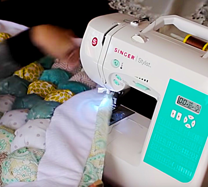 Try sewing a DIY Puff Quilt to keep warm this winter