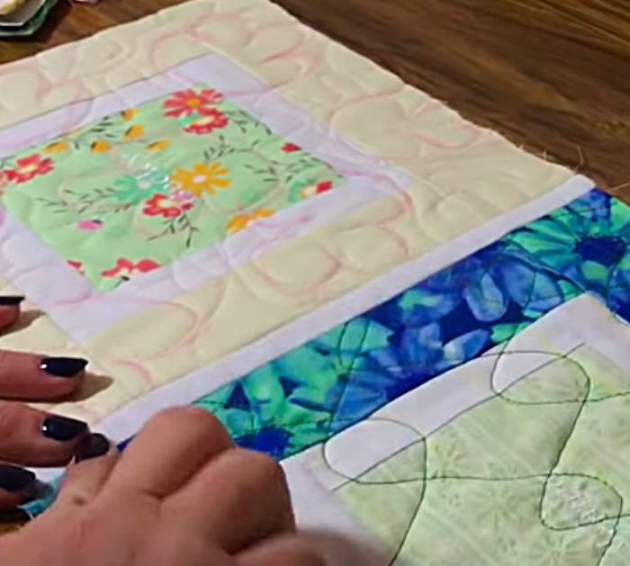 Learn how to join quilt as you so block the quick easy way