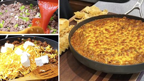 Sloppy Joe Skillet Dip Recipe | DIY Joy Projects and Crafts Ideas
