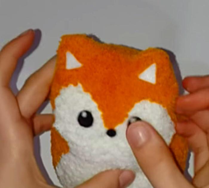 Learn to make a cheap easy DIY Sock Fox