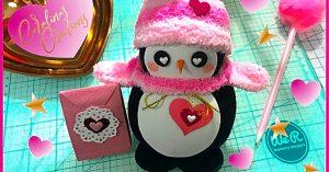 DIY Valentine's Day Sock Penguin
