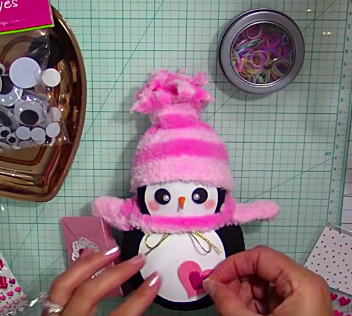 Learn to make a quick easy DIY Sock Penguin