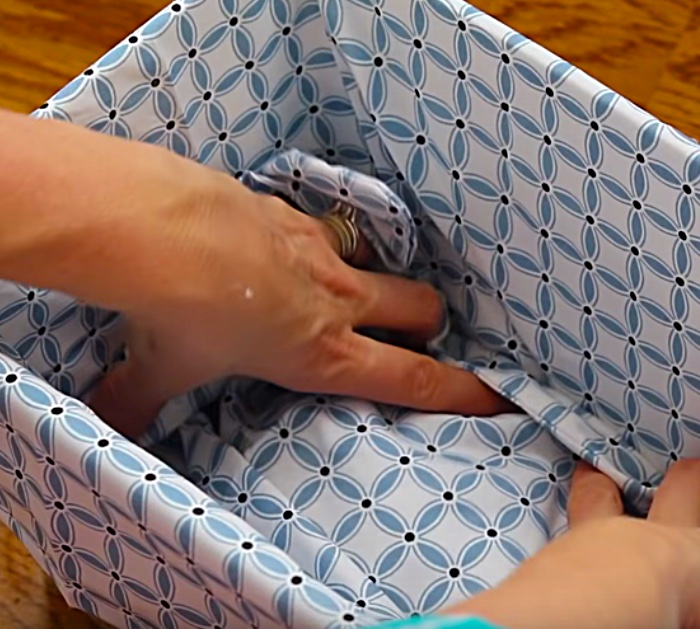 Learn to make a storage basket idea with cheap items from Dollar Tree